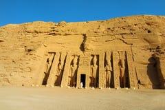Nefretari tempel Royaltyfria Bilder