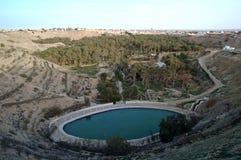 Nefta: a cesta (Tunísia sul) Foto de Stock Royalty Free