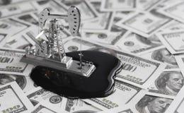 Neftechka Billets de banque des dollars Photos libres de droits