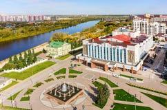 Neftyanikpaleis van cultuur Tyumen Rusland Stock Fotografie