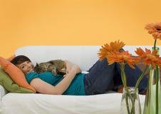 Negócio 12 do sofá Fotografia de Stock Royalty Free