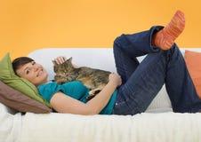 Negócio 13 do sofá fotografia de stock royalty free