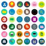 Negócio ajustado do ícone da cor Imagens de Stock