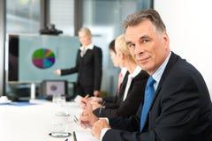 Negócio - apresentação dentro de uma equipe imagem de stock royalty free
