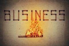 Negócio ateado fogo Imagem de Stock