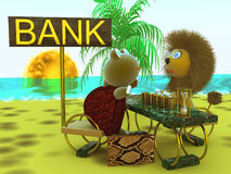 Negócio, banco fotografia de stock royalty free
