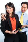 Negócio chinês asiático - acosso sexual Imagens de Stock Royalty Free