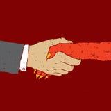 Negócio com diabo Imagem de Stock