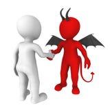 Negócio com o diabo Foto de Stock