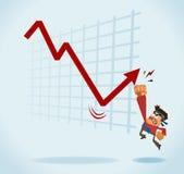Negócio com o mercado Fotografia de Stock Royalty Free