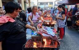 Negócio com religião, Quiapo Fotografia de Stock Royalty Free