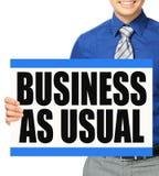 Negócio como de costume Fotos de Stock