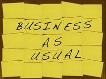 Negócio como usual Fotografia de Stock
