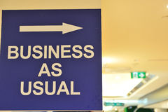 Negócio como usual Imagem de Stock Royalty Free