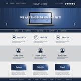 Negócio, conexão, rede - molde do Web site Fotos de Stock Royalty Free