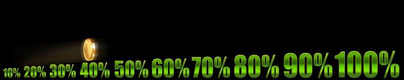 Negócio crescente nos por cento Fotografia de Stock