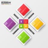 Negócio 3D digital abstrato que introduz no mercado Infographic Imagens de Stock Royalty Free