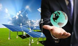 Negócio da célula solar Imagem de Stock
