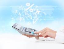 Negócio da calculadora Foto de Stock Royalty Free