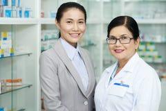 Negócio da farmácia imagem de stock