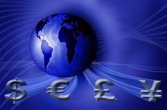 Negócio da moeda do mundo Imagens de Stock Royalty Free