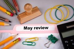 Negócio da revisão de maio e conceito da finança Fotos de Stock Royalty Free
