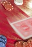 Negócio da tabela do pôquer fotografia de stock royalty free