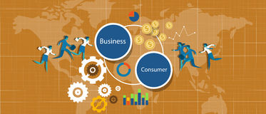 Negócio de B2c ao consumidor Imagem de Stock