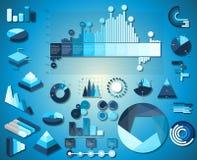 Negócio de coleção gráfico dos elementos da informação Fotografia de Stock