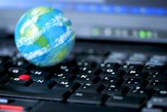 Negócio de computador do Internet global Fotos de Stock