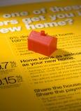 Negócio de empréstimo hipotecario imagens de stock