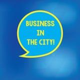Negócio de exibição conceptual da escrita da mão na cidade Foto do negócio que apresenta escritórios profissionais das empresas u ilustração do vetor