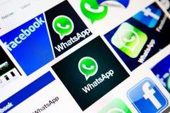 Negócio de Facebook WhatsApp Fotografia de Stock Royalty Free