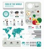 Negócio de Infographic do projeto do molde dos alimentos vetor do conceito Fotos de Stock Royalty Free