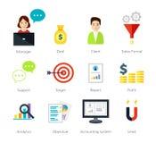 Negócio de Internrt e ilustração do comércio eletrônico Imagem de Stock