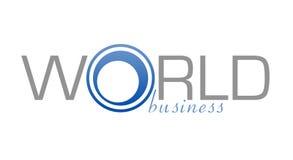 Negócio de mundo do logotipo ilustração stock