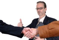 Negócio de negócio, aperto de mão foto de stock royalty free