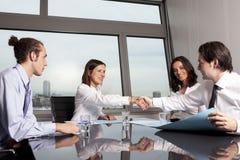 Negócio de negócio entre advogados Imagens de Stock Royalty Free
