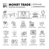 Negócio de operação bancária e indústria modernos do comércio Foto de Stock