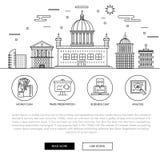 Negócio de operação bancária e indústria modernos do comércio Fotografia de Stock
