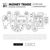 Negócio de operação bancária e indústria modernos do comércio Imagem de Stock Royalty Free