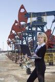 Negócio de petróleo Fotografia de Stock