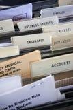 Negócio de seguro dos arquivos imagens de stock royalty free