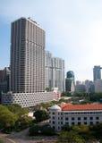 Negócio de Singapore e edifícios residenciais Fotografia de Stock