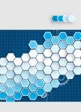Negócio & desenvolvimento abstratos do fundo da tecnologia Imagens de Stock Royalty Free