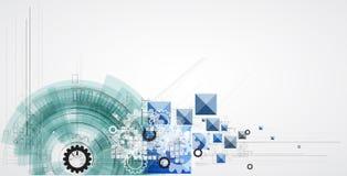Negócio & desenvolvimento abstratos do fundo da tecnologia Fotografia de Stock Royalty Free