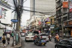 Negócio diário 05 das horas de ponta das ruas de Banguecoque Tailândia 10 2015 Imagem de Stock