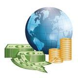 Negócio, dinheiro e economia global Imagens de Stock