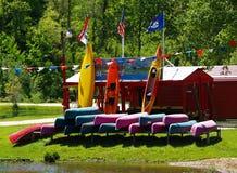 Negócio do arrendamento da canoa Imagem de Stock Royalty Free