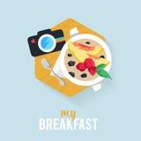 Negócio do café da manhã do ícone Fotos de Stock Royalty Free